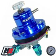Sytec Motorsport Blue Adjustable Fuel Pressure Regulator -6 JIC  With Free Gauge
